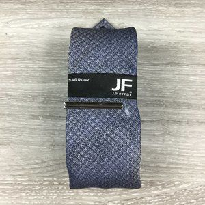 COPY - JF J. Ferrar Navy & Silver Patterned Narro…